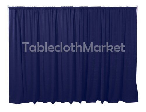8 x 5 ft Backdrop Background FOR PIPE AND DRAPE DISPLAYS Navy Blue