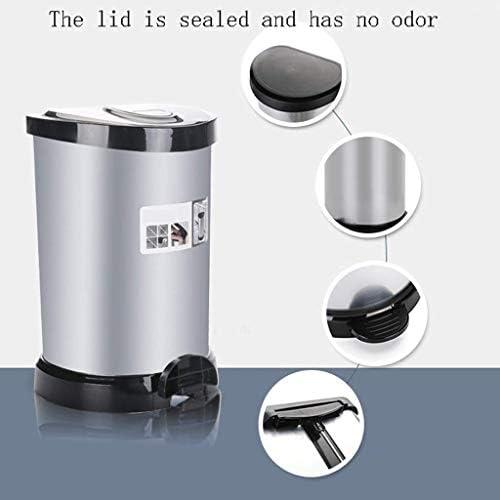 耐摩耗性経済的 大きなキッチンのゴミ箱ステンレススチールフットペダル - ふた付きスタイリッシュで耐久性のある5.3から10.6ガロンステップごみ缶(サイズ:20L) (Size : 40L)