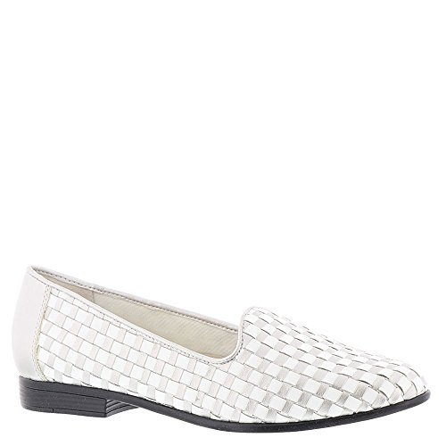 Liz Donna silver Leather Loafer Trotters White 7wnx88