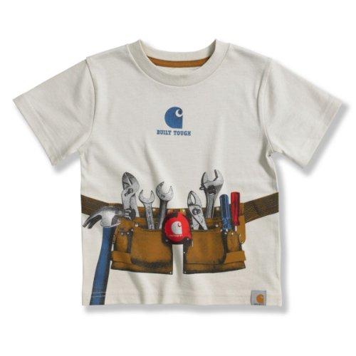 Carhartt Boys 2-7 Photo Real Tool Belt T-Shirt, Oatmeal, 3T