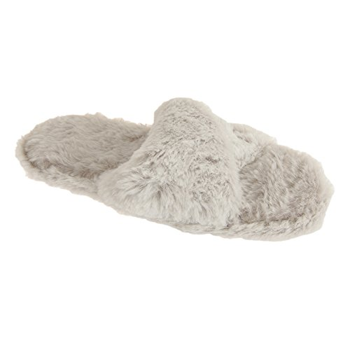 Slumberzzz Donna / Donna Slip On Fluffy Slippers Grey