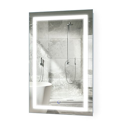 Krugg LED Bathroom Mirror 20 Inch X 32 Inch | Lighted Vanity -