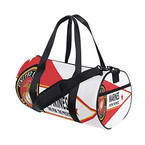 Sports Bag Trendy US Marine Corps Flag Mens Duffle Luggage Travel Bags Womens Lightweight Gym bag