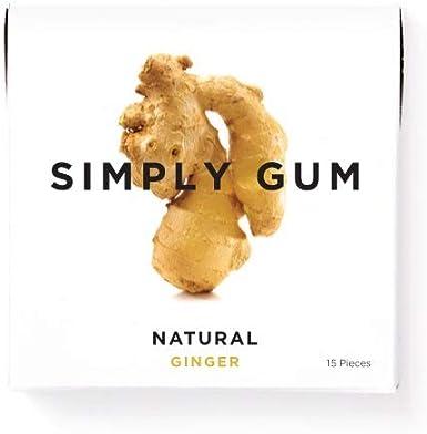 Simply Gum | Chicle de Jengibre | Natural, Vegetariano, y no GMO ...