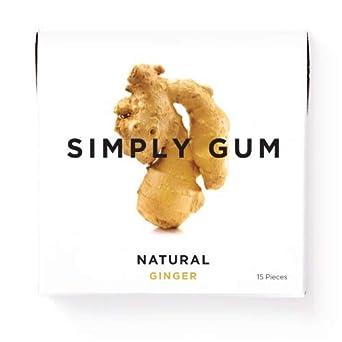 Chicle de Caf/é y no GMO Simply Gum Paquete de 6 90 Piezas Totales Natural Vegetariano