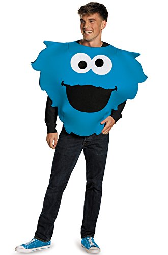 Disguise Men's Cookie Monster Sandwich Board Costume, Blue, One Size