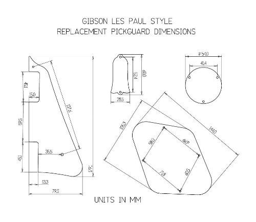 amazon com mirror pickguard cavity covers and truss rod cover set rh amazon com