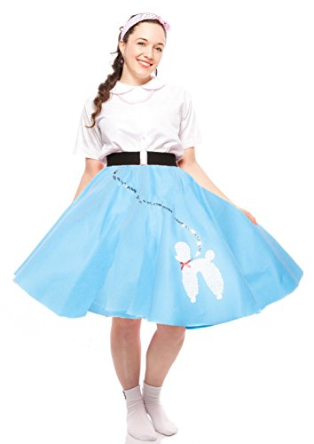 [Hey Viv Poodle Skirt Teen to Adult Small Size (Blue)] (1940s Dance Costumes)