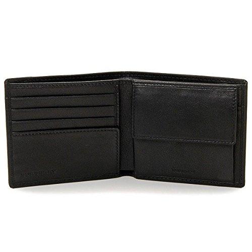 d5bb9a024c7e Amazon   BURBERRY(バーバリー) 財布 メンズ HORSEFERRY CHECK 2つ折り財布 ブラック 3963271 [並行輸入品]    BURBERRY(バーバリー)   財布