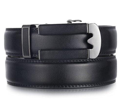 Marino Ratchet Click Belts for Men - Mens Comfort Genuine Leather Dress Belt - Automatic Buckle