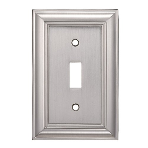 Allen + roth Cosgrove 1-Gang Satin Nickel Single Toggle Wall Plate