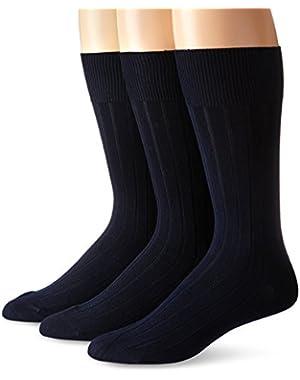 Calvin Klein Men's Cotton Rich Dress Socks (Pack of Three)