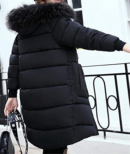 Donna Pelliccia Manica Collo Lunga Elegante Especial Cappuccio Giacche In Vintage Taglie Piumino Autunno Giacca Estilo Sintetica Trapuntata Con Invernali Moda Outerwear Schwarz Mantello Forti aqarRwTU