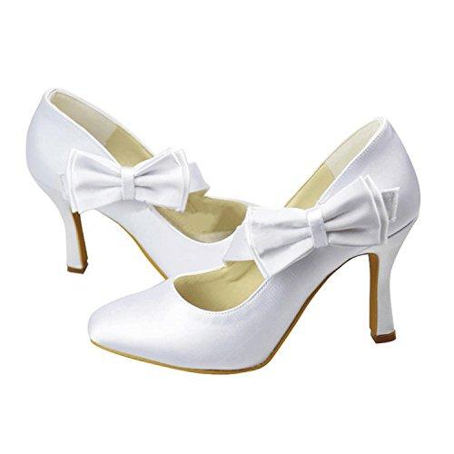 Bianco 5 Minitoo Bianco Tallone Centimetri Donne Pompe Le Per 9 SSwq67YU1
