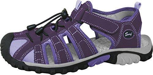 Surf Kinder Vista Strand Sandalen Textil Ober PVC Sohle EASY VERSCHLUSS Schuhwerk - Violett, 36