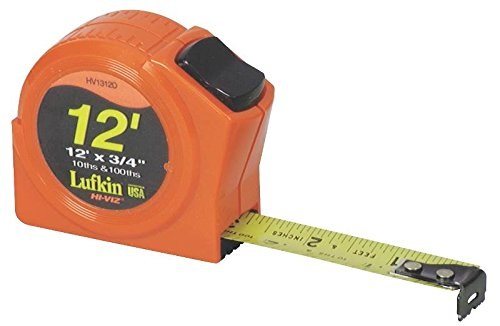 Lufkin PHV1316 Power Return Tape, 3/4-Inch by 16-Feet, Hi-Viz Orange
