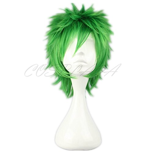 COSPLAZA Cosplay Wig Short Green Spiked Punk St Patricks Day Anime Hair for $<!--$15.99-->