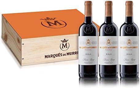 Marqués de Murrieta Reserva 2015. Caja Madera 3 botellas Vino Tinto Rioja.: Amazon.es: Alimentación y bebidas