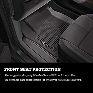 Husky Liners 99621 Fits 2016-20 Nissan Maxima Weatherbeater Front & 2nd Seat Floor Mats