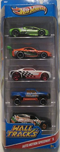 Wheels Auto Hot (Hot Wheels 5 Car Gift Pack - AUTO MOTION SPEEDWAY-5)