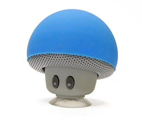 Wireless Portable Mini mushroom Bluetooth Speaker - Built-in Lithium Battery and Mic - Auto Pairing Feature for Easy Pairing Compatible with all Bluetooth devices - Hands-free Calling - Blue