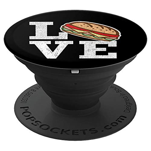 Love Hoagie Submarine Sandwiches - PopSockets Grip and Stand for Phones and Tablets