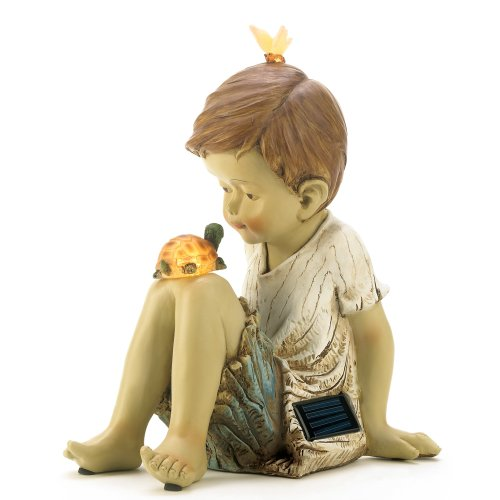Cheap Making Friends Solar Lighted Garden Statue