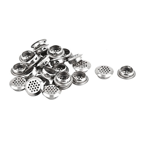 uxcell Stainless Steel Apartment Bathroom Round Mesh Hole Basin Sink Residue Strainer 25pcs by uxcell