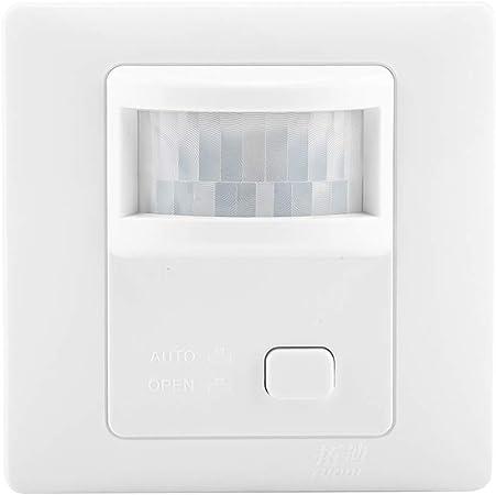 Sensor de movimiento infrarrojo LED Interruptor temporizador ajustable de luz para luz de pasillo: Amazon.es: Hogar