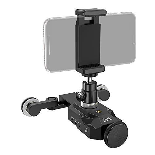 لغزنده دوربین Zecti Dolly Roller Slider Dolly Car Skater Video Track Remote Control سرعت 10 سرعت وزن تا 6 کیلوگرم مینی لغزنده قابل شارژ قابل تنظیم برای Canon Nikon Sony DSLR Camera IOS Android Smartphone