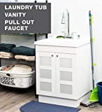 LDR 7712CP-SD Laundry Utility Cabinet Sink Vanity