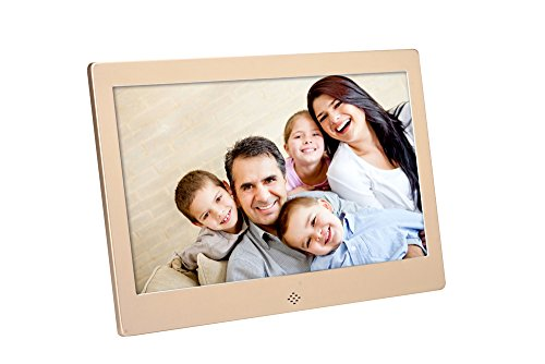 FashionUp 10-Inch DH Digital Photo Frame 1024×600 High Resolution for Wall Mount or Tabletop Use, 8GB Storage Digital Picture Frame with Remote Control Built-in Slideshow SD Card USB Flash Drive ports