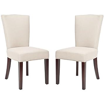 Safavieh Mercer Collection Teagan Linen Side Chairs Beige Set Of 2