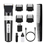 SUPRENT Hair Clippers for Men Professional Cordless Rechargeable Hair Clipper Hair Trimmer with USB Fast Charge Lithium Ion Battery, Ceramic Blade, 20 Precise Lock-in Haircut Lengths (Black)