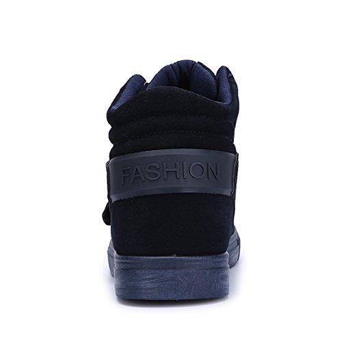 Xiafen Mens Haut Haut Avec Bride À La Cheville Chaussures De Plein Air Confortables Doux Chaussures De Sport Chaussures Bleu