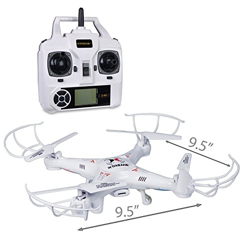 (Xtreme Cables Quad Copter Drone with Video - White)