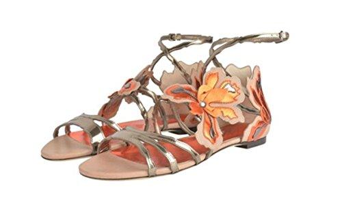 Sandali Sandali Orange 34 Piatti Stile In Da Moda Donna Romano Alla Con nqTapq4