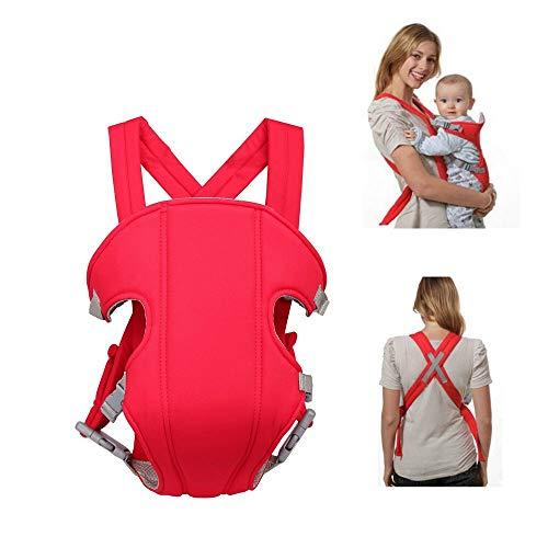 Wonepic Multifunktionsbabytrage Ergonomische Babytrage, justierbare sichere Babytrage bequemes Kind Neugeborenes Hip-Sitz für Outdoor-Reise 3-36 Monate Red