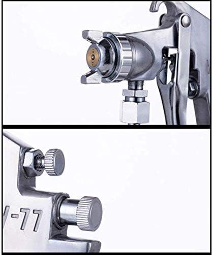 スプレーガン重力供給空気、3Mm金属ノズル付きW77、木材コーティング修理用1Lステンレス製水まき缶