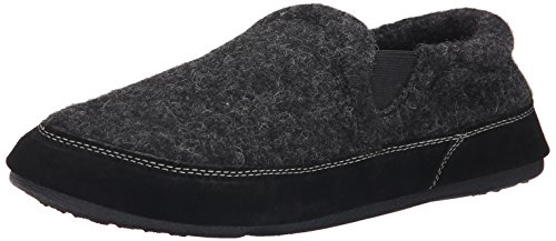 ACORN Men's Fave Gore Slipper,Charcoal Tweed,X-Large/12-13 M US
