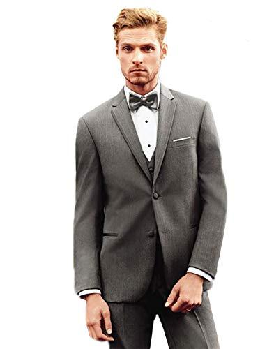 3 Costume Pantalon Hommes Veste Smoking Bal Gris amp; Tux Coupe Formal Slim Pièce Gilet Mariage Yyi Costumes De AF8nq8Y