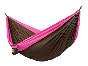 LA SIESTA -  Double Travel Hammock with Integrated Suspension COLIBRI fuchsia