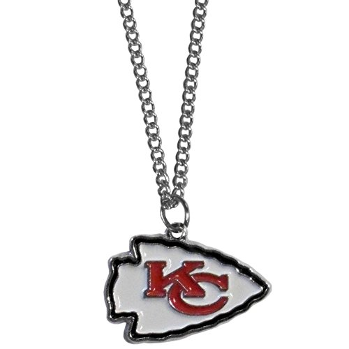 (Siskiyou NFL Kansas City Chiefs Chain Necklace with Small Pendant,)