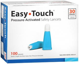 Easy Touch Pressure-Activated Safety Lancets 30 Gauge - 100 ct, Pack of 4 by Easy Touch