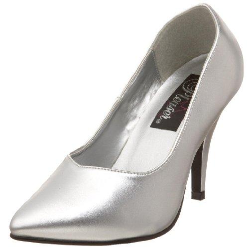 Mujer 420w De silver Tacón Pu Zapatos Pleaserdream Plateado RIFW1ndqqf
