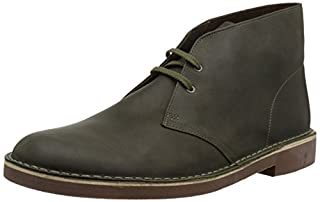 Clarks Men's Bushacre 2 Chukka Boot, Dark Olive Leather, 9 M US (B078HPHJ4Y) | Amazon price tracker / tracking, Amazon price history charts, Amazon price watches, Amazon price drop alerts