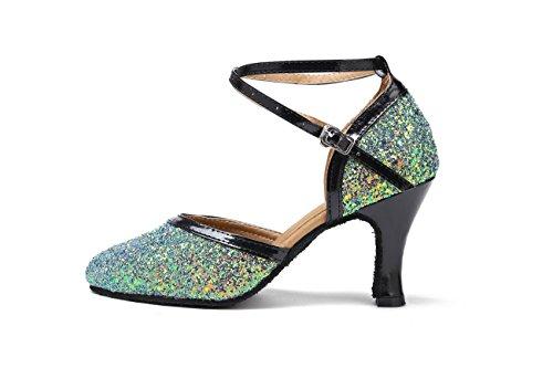 8cm Mujer Heel Green Miyoopark Salón wACP5qqt