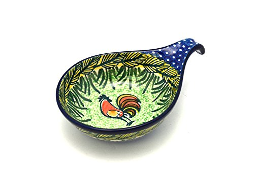 Polish Pottery Spoon/Ladle Rest - Unikat Signature - U2663 by Polish Pottery Gallery