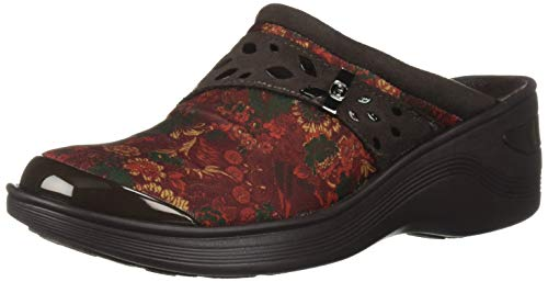 BZees Women's Dolly Clog, red Floral Print, 7.5 M US