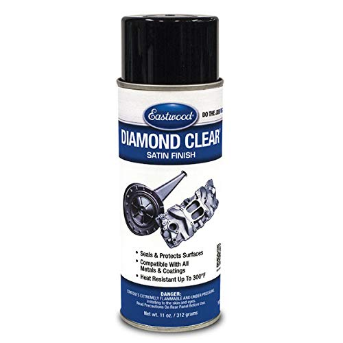 Eastwood Diamond Clear DTM and Painted Surfaces Satin Finish Heat Resistant Aerosol
